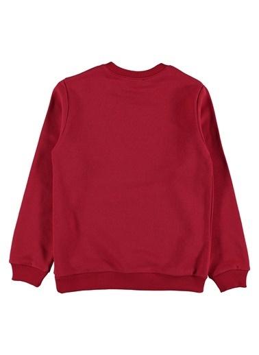 Morhipo Kids O Yaka Baskılı Sweatshirt Kırmızı